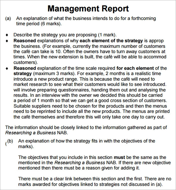 Sample management report template annual management report template download management report template wajeb Image collections
