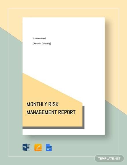 montly risk management sample