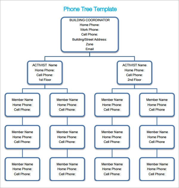 Phone tree 6 free pdf doc download for Telephone tree template