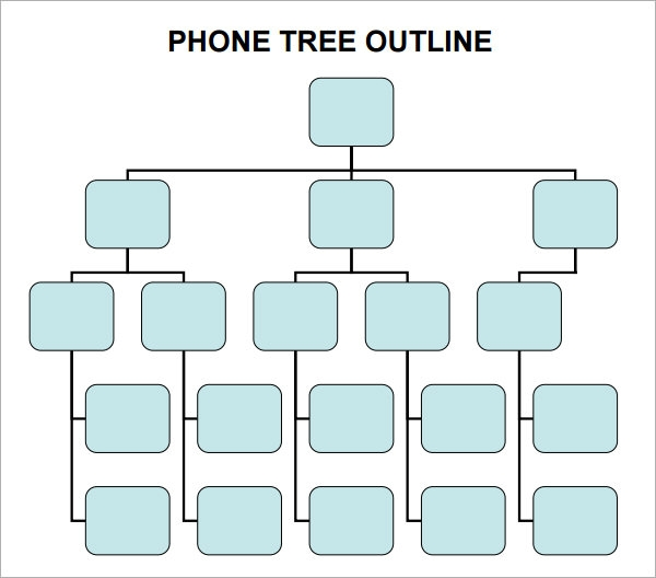 4 sample phone tree templates to download sample templates for Bcp call tree template