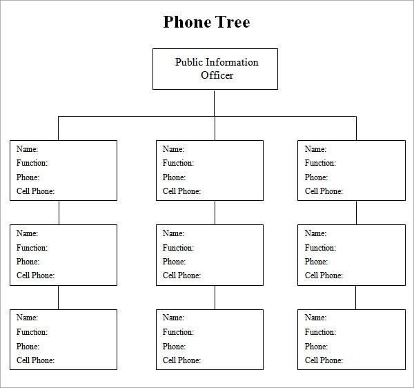 4 sample phone tree templates to download sample templates for Calling tree template word