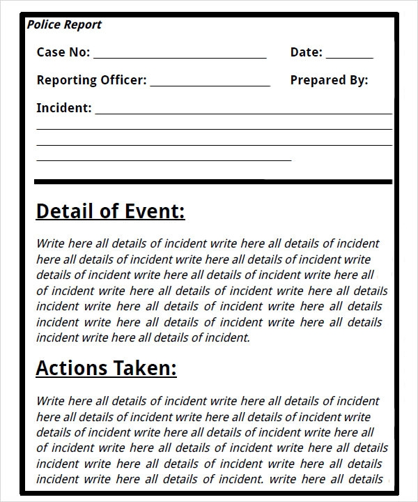 Classroom Layout Ideas Uk ~ Sample police reports templates