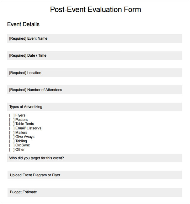 Event Evaluation Sample - 9+ Documents in PDF, Word, Excel