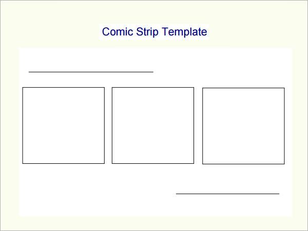 Comic Strip Template - 7 Free PDF Download