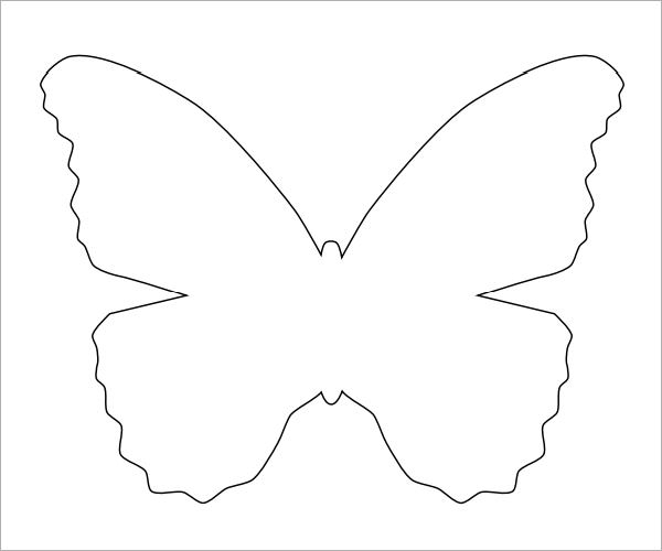 Butterfly template 9 free pdf download for Butterfly paper cut out template