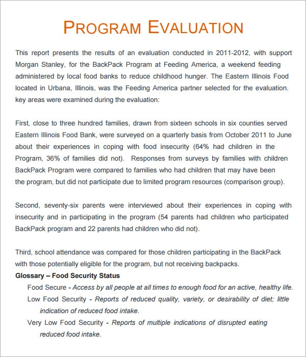 program evaluation - 3+ free download for pdf
