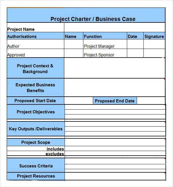 project charter template vnzgames