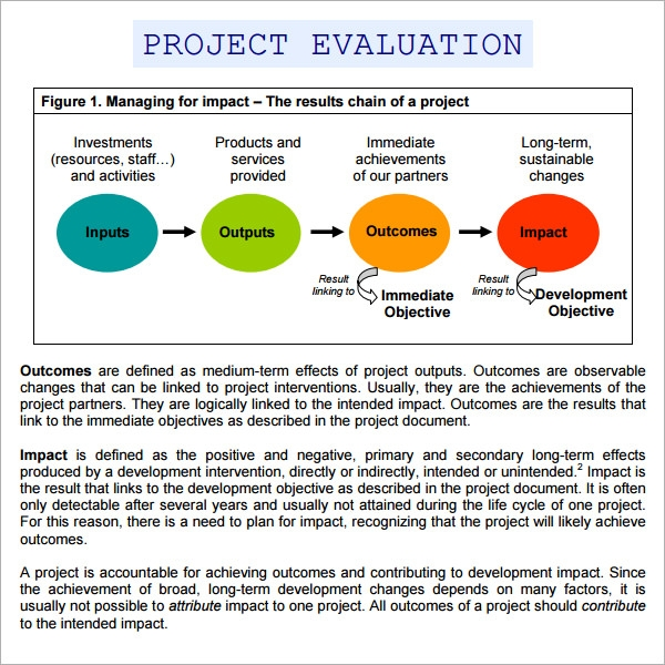 Project Evaluation   Download Free Documents In Pdf