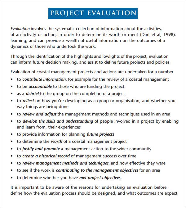 Sample evaluation report template maxwellsz