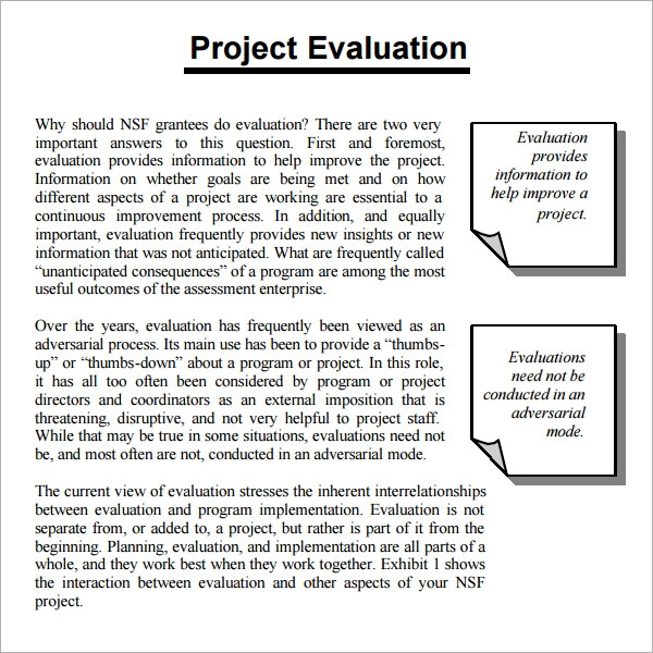 Post project evaluation template thecheapjerseys Choice Image