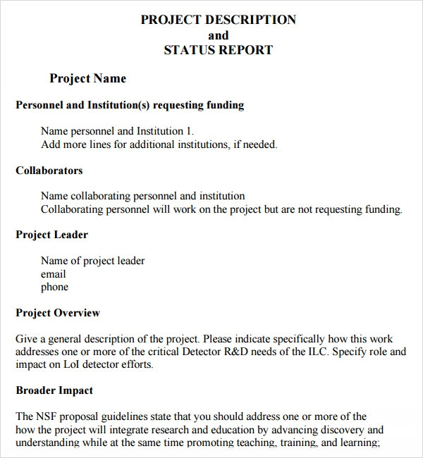 sample of project report When you are in charge of a project in your office you would have to submit a project status report to your higher authority from time to time.
