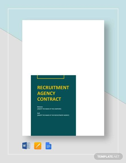 recruitment agency contract