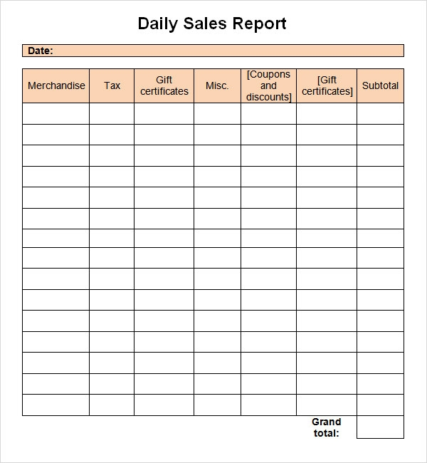 Sales Report Template - 9+ Free PDF , Doc Download | Sample Templates