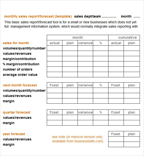 Sales Report Template - 9+ Free PDF , Doc Download ...