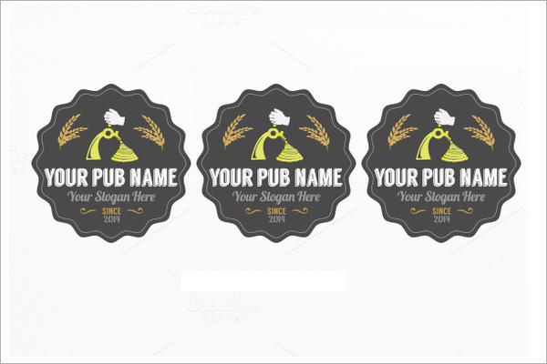 sample beer label