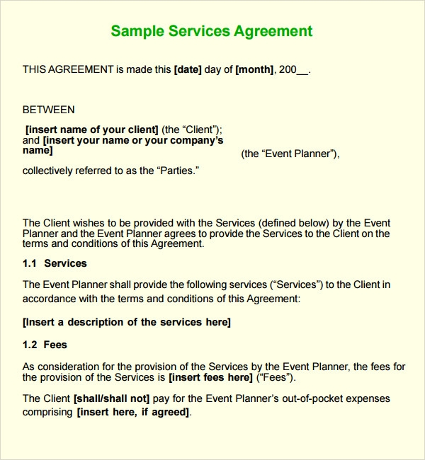 Service contract template Real analysis homework help – Business Service Contract Template