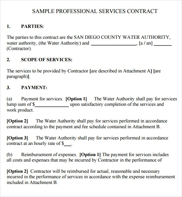 Service Contract Template - PDF by qlc15660