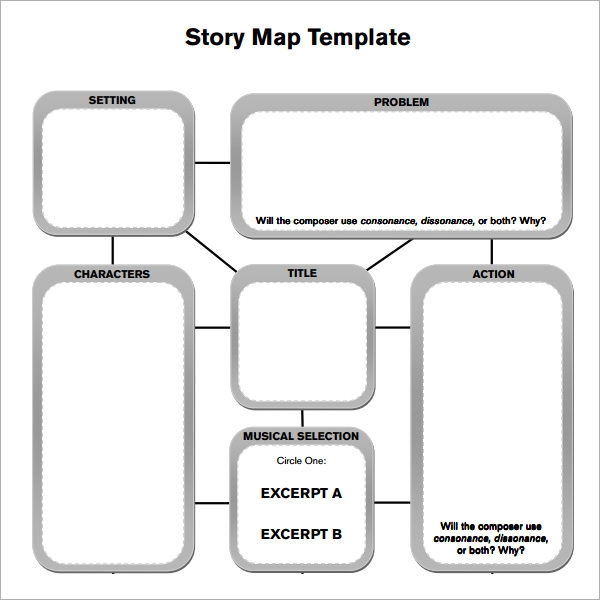 photograph regarding Story Map Template Printable named Tale Map - 7+ Free of charge PDF Down load