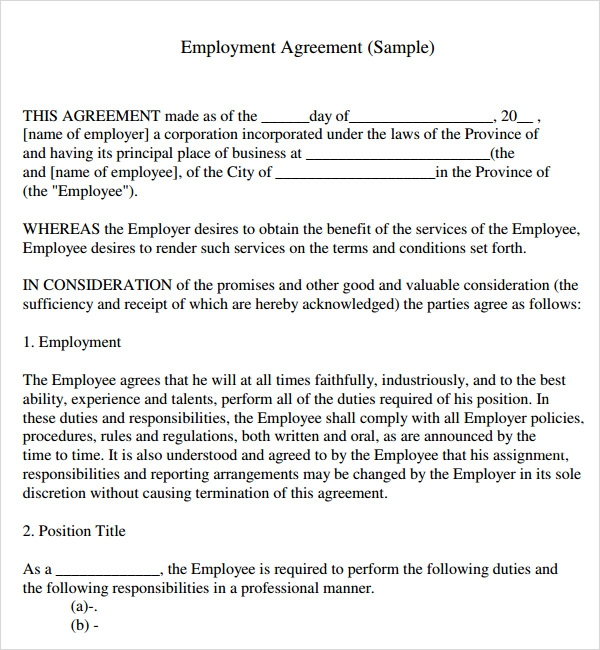 simple construction contract template – Simple Service Contract Template