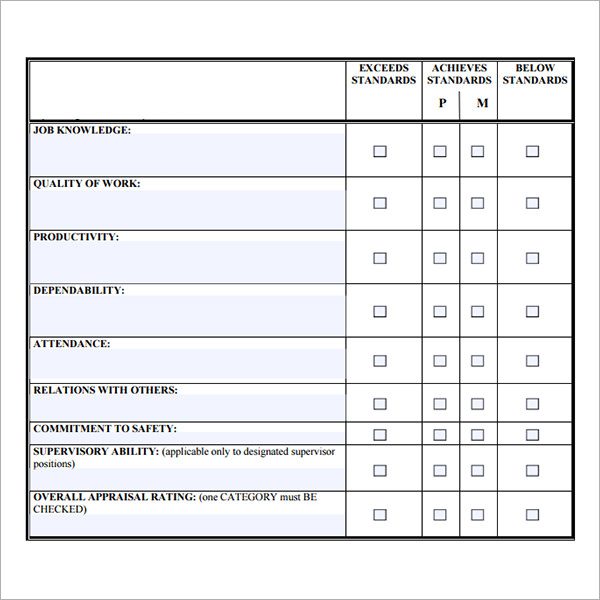 Staff Evaluation Sample   Documents In Pdf