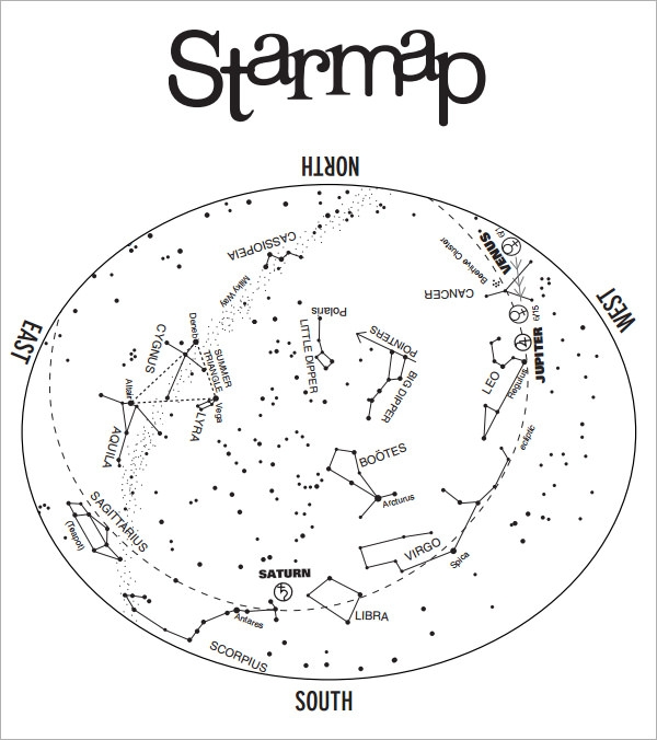 star chart pdf