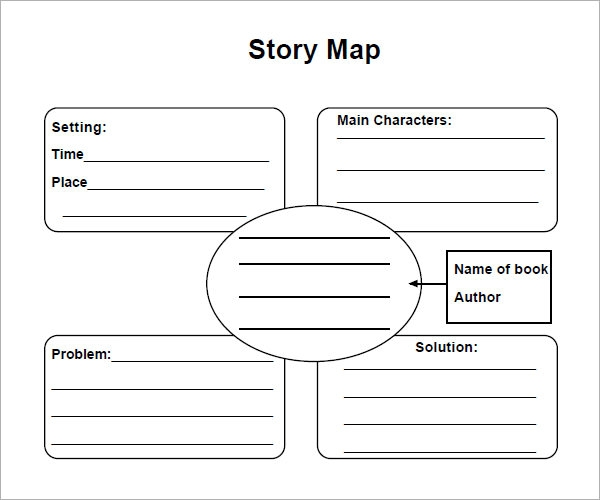 8 sample story map templates to download sample templates for Story outline template for kids