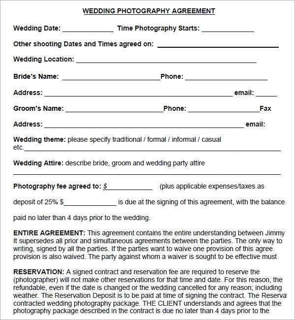 contracts for photographers