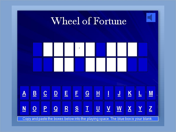 7 jeopardy samples sample templates for Wheel of fortune ppt template