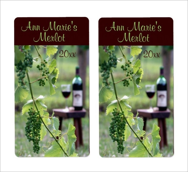 wine label sample