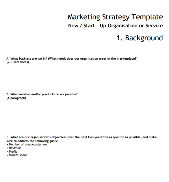 Market Analysis Template Download