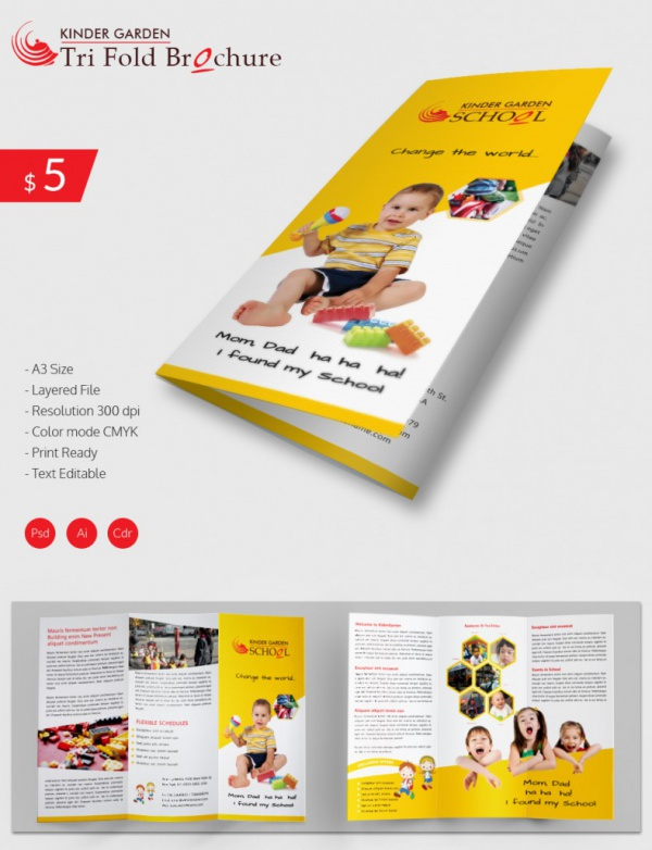 9+ Preschool Brochures - Psd, Vector Eps