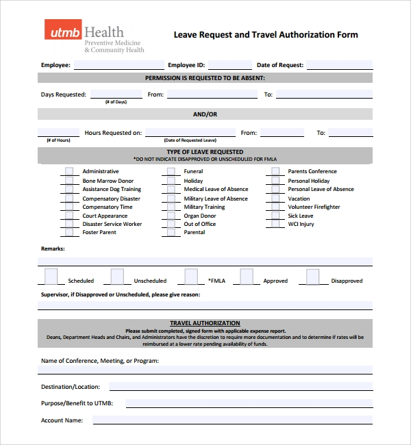 Leave Application Template 8 Leave Application Email Templates – Leave Application Form for Office