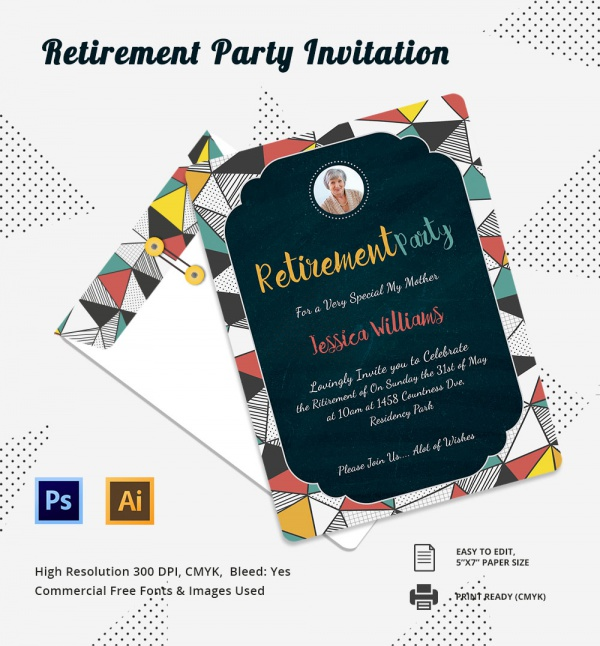 Free Retirement Party Invitation Flyer Templates Air Media