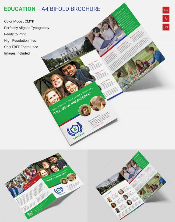 School brochure 22 download in psd vector pdf for Education brochure templates free