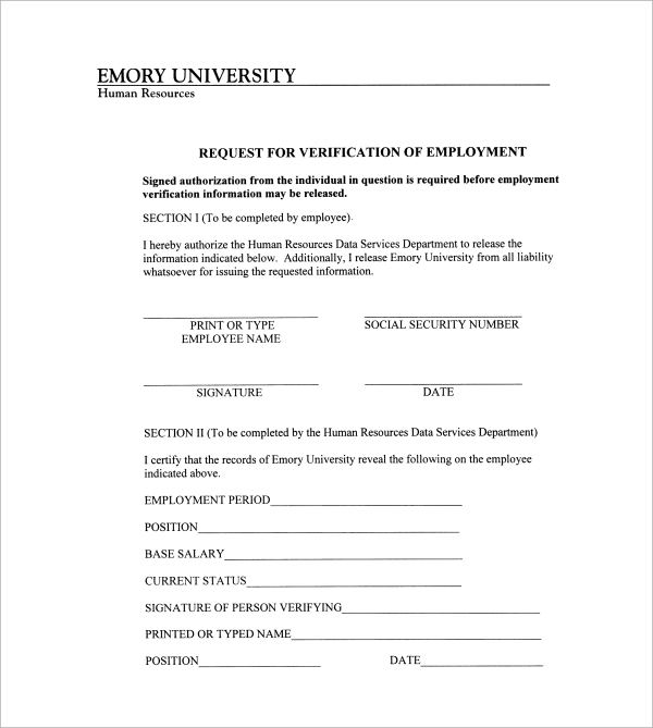 Sample Employment Authorization Form   Free Documents Download