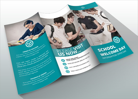 School Brochure Download In PSD Vector PDF Illustration - High school brochure template