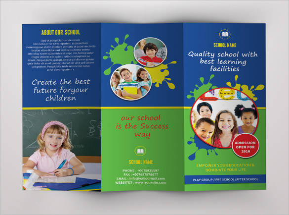 24 useful school brochure templates sample templates for Brochure templates for school project