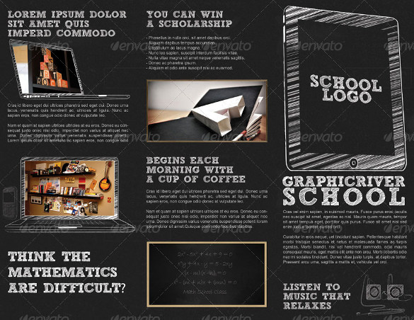 24 useful school brochure templates sample templates for Tri fold school brochure template