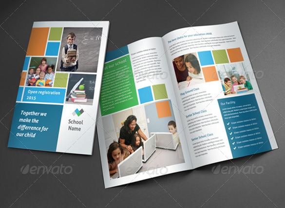 school brochure template photoshop psd