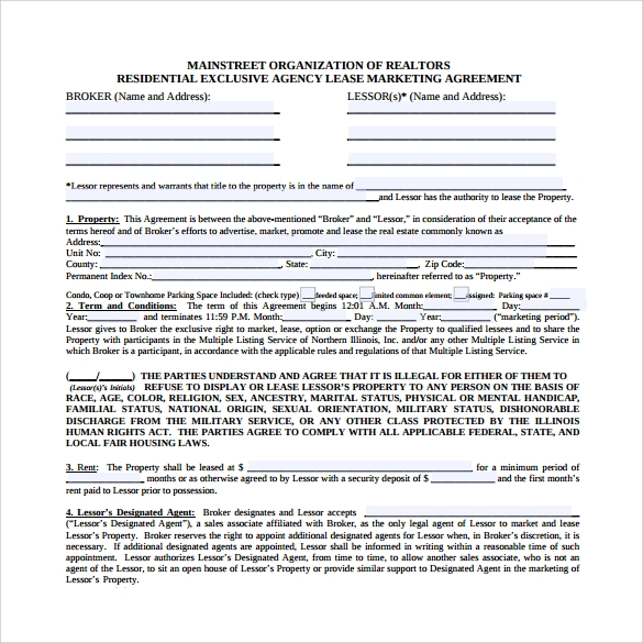 Market Research Agreement Template
