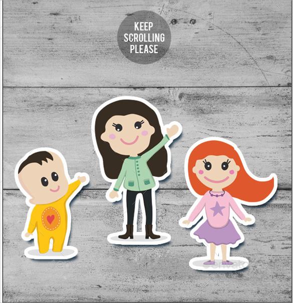 babysitting cartoon flyer template