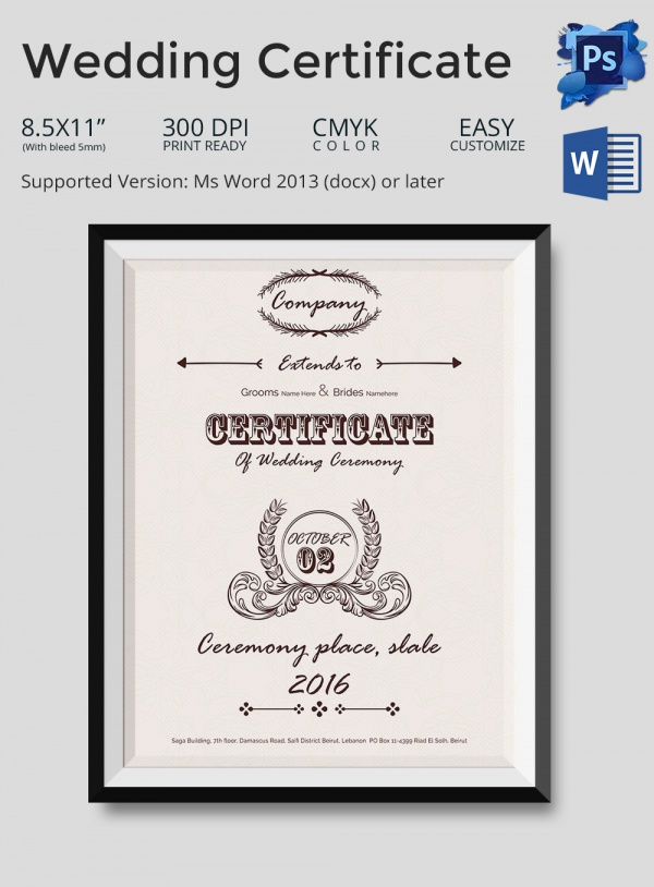 Marriage Certificate Template Microsoft Word - Hlwhy