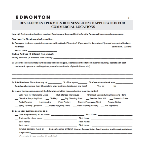 Commercial Business Form. Commercial/Business Data Input Form Mls
