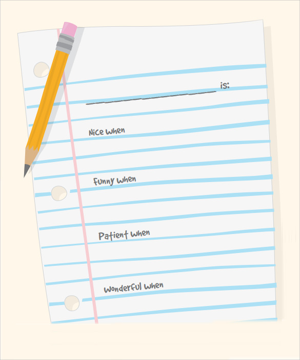 Blank Notebook Paper  Notepad Template Word