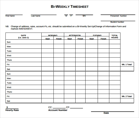 Timesheet Templates Contractor Timesheet Templates Hr Timesheet