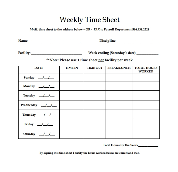 search results for �free weekly timesheet template