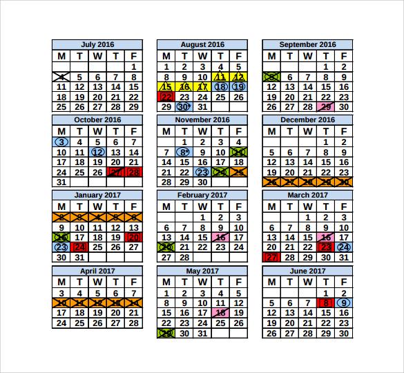 template for annual calendar1