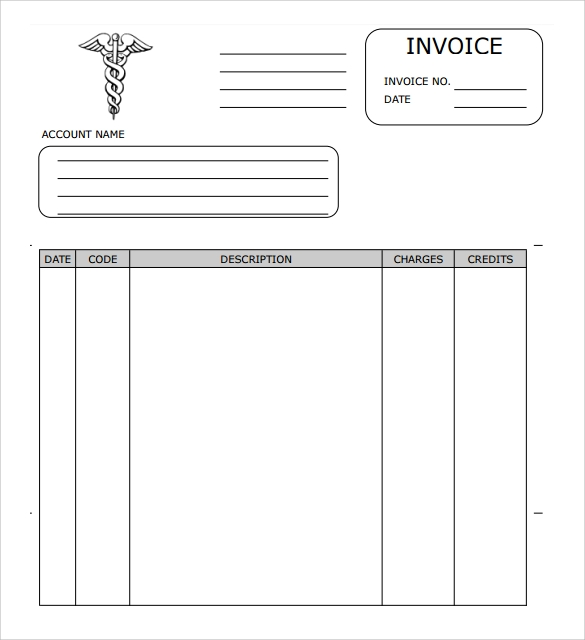 Sample Medical Invoice Template  Invoice Tempaltes