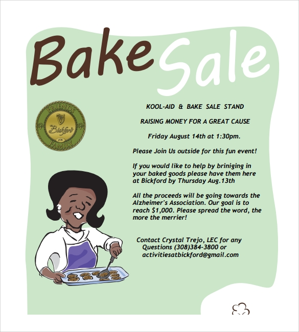 Bake Sale Flyer  WowcircleTk
