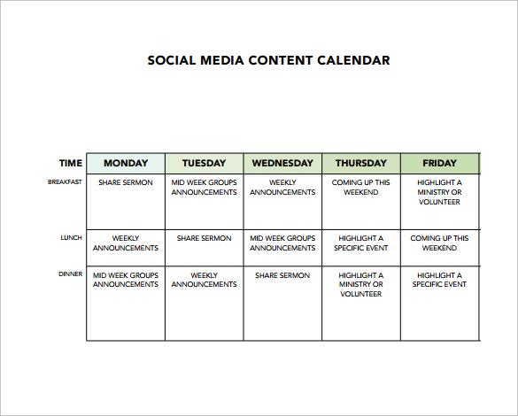8 sample social media calendar templates to download